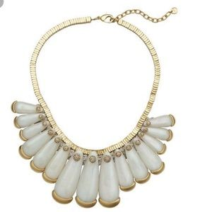 """LOFT Collection-Mother of Pearl """"Tribal"""" Necklace"""
